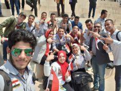 مشاركة طلاب الجامعة العمالية فى أحتفالية يوم اليتيم